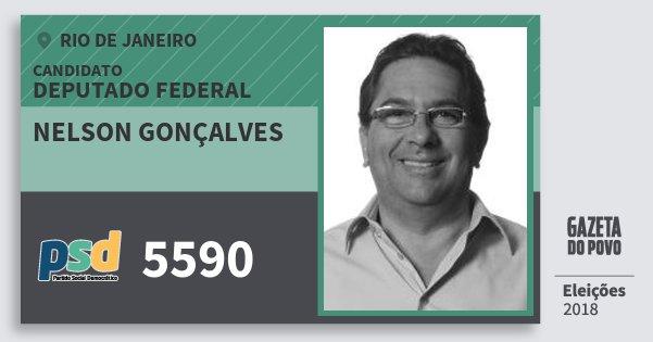 Santinho Nelson Gonçalves 5590 (PSD) Deputado Federal | Rio de Janeiro | Eleições 2018