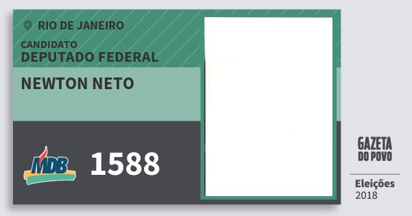 Santinho Newton Neto 1588 (MDB) Deputado Federal | Rio de Janeiro | Eleições 2018