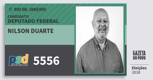 Santinho Nilson Duarte 5556 (PSD) Deputado Federal | Rio de Janeiro | Eleições 2018