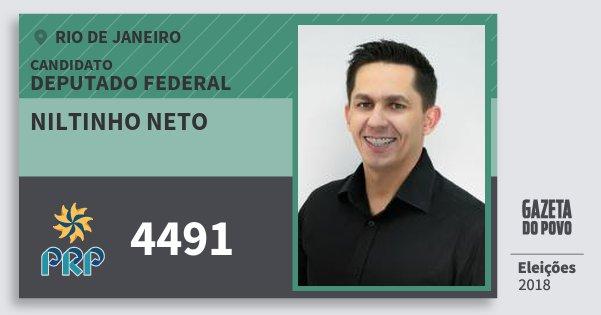 Santinho Niltinho Neto 4491 (PRP) Deputado Federal | Rio de Janeiro | Eleições 2018