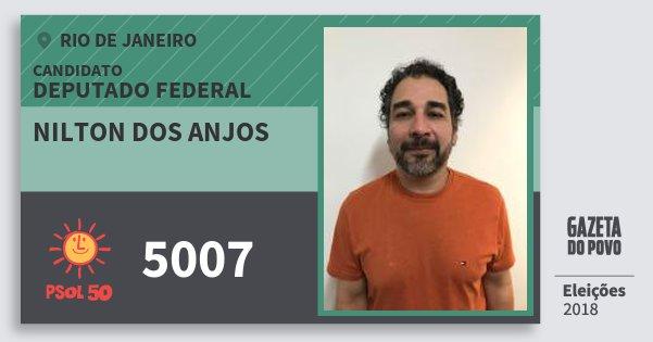 Santinho Nilton dos Anjos 5007 (PSOL) Deputado Federal | Rio de Janeiro | Eleições 2018