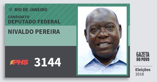 Santinho Nivaldo Pereira 3144 (PHS) Deputado Federal | Rio de Janeiro | Eleições 2018