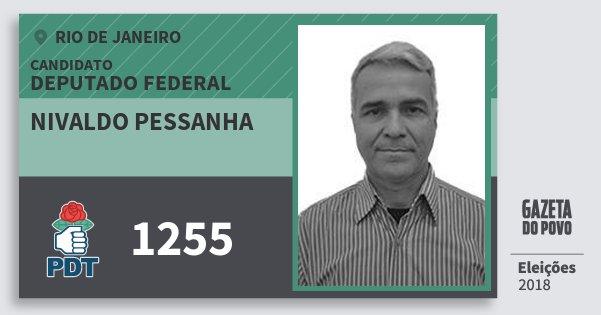 Santinho Nivaldo Pessanha 1255 (PDT) Deputado Federal | Rio de Janeiro | Eleições 2018