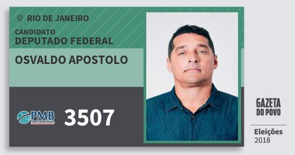 Santinho Osvaldo Apostolo 3507 (PMB) Deputado Federal | Rio de Janeiro | Eleições 2018