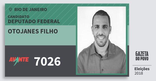 Santinho Otojanes Filho 7026 (AVANTE) Deputado Federal | Rio de Janeiro | Eleições 2018