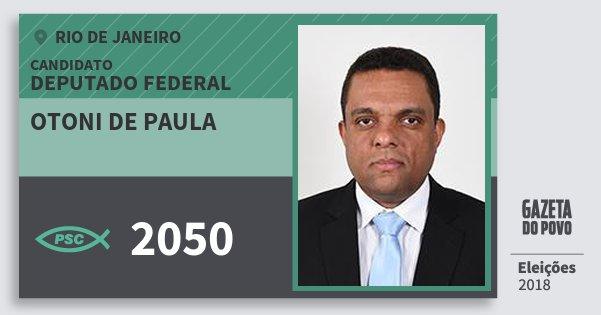 Santinho Otoni de Paula 2050 (PSC) Deputado Federal | Rio de Janeiro | Eleições 2018