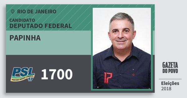 Santinho Papinha 1700 (PSL) Deputado Federal | Rio de Janeiro | Eleições 2018