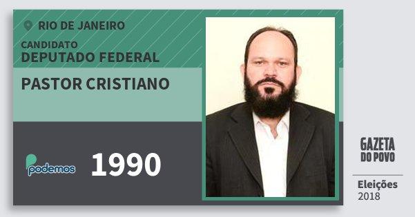 Santinho Pastor Cristiano 1990 (PODE) Deputado Federal | Rio de Janeiro | Eleições 2018