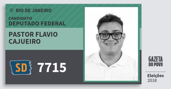 Santinho Pastor Flavio Cajueiro 7715 (SOLIDARIEDADE) Deputado Federal | Rio de Janeiro | Eleições 2018