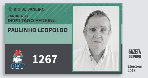 Santinho Paulinho Leopoldo 1267 (PDT) Deputado Federal | Rio de Janeiro | Eleições 2018