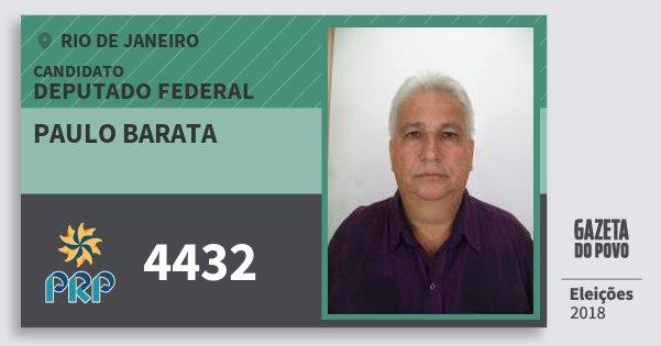 Santinho Paulo Barata 4432 (PRP) Deputado Federal | Rio de Janeiro | Eleições 2018
