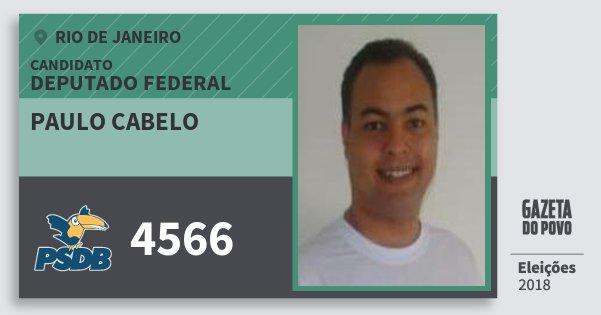 Santinho Paulo Cabelo 4566 (PSDB) Deputado Federal | Rio de Janeiro | Eleições 2018