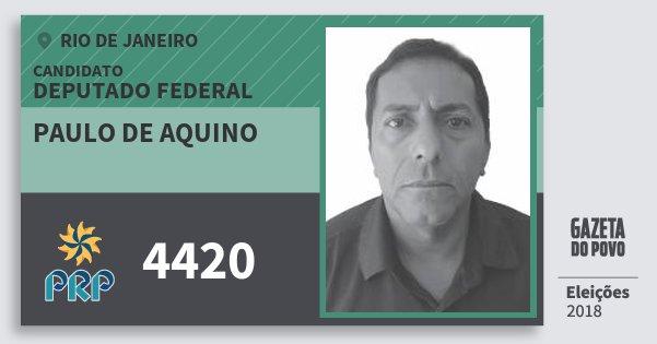 Santinho Paulo de Aquino 4420 (PRP) Deputado Federal | Rio de Janeiro | Eleições 2018