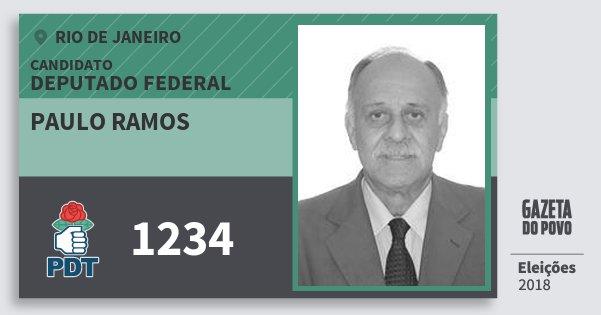 Santinho Paulo Ramos 1234 (PDT) Deputado Federal | Rio de Janeiro | Eleições 2018