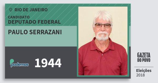 Santinho Paulo Serrazani 1944 (PODE) Deputado Federal | Rio de Janeiro | Eleições 2018