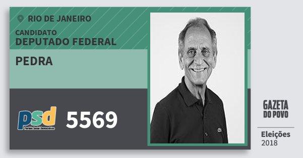 Santinho Pedra 5569 (PSD) Deputado Federal | Rio de Janeiro | Eleições 2018