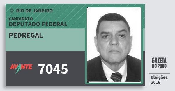 Santinho Pedregal 7045 (AVANTE) Deputado Federal | Rio de Janeiro | Eleições 2018