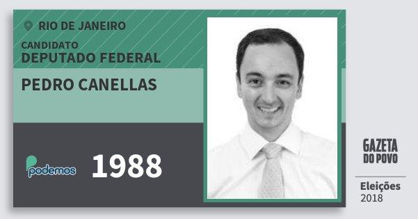 Santinho Pedro Canellas 1988 (PODE) Deputado Federal | Rio de Janeiro | Eleições 2018