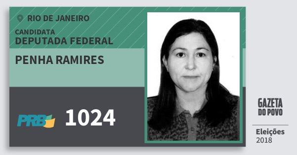 Santinho Penha Ramires 1024 (PRB) Deputada Federal | Rio de Janeiro | Eleições 2018