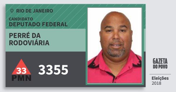 Santinho Perré da Rodoviária 3355 (PMN) Deputado Federal | Rio de Janeiro | Eleições 2018