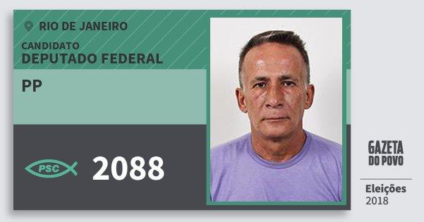 Santinho Pp 2088 (PSC) Deputado Federal | Rio de Janeiro | Eleições 2018