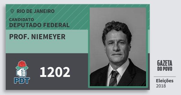 Santinho Prof. Niemeyer 1202 (PDT) Deputado Federal | Rio de Janeiro | Eleições 2018