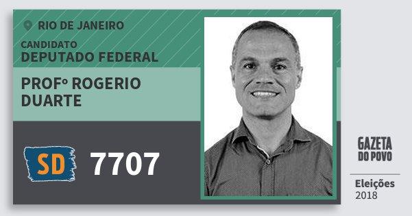 Santinho Profº Rogerio Duarte 7707 (SOLIDARIEDADE) Deputado Federal | Rio de Janeiro | Eleições 2018