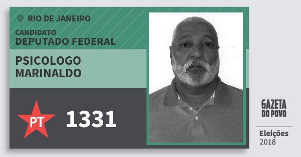 Santinho Psicologo Marinaldo 1331 (PT) Deputado Federal | Rio de Janeiro | Eleições 2018