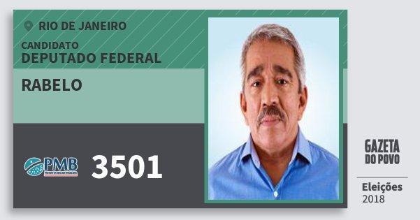 Santinho Rabelo 3501 (PMB) Deputado Federal | Rio de Janeiro | Eleições 2018
