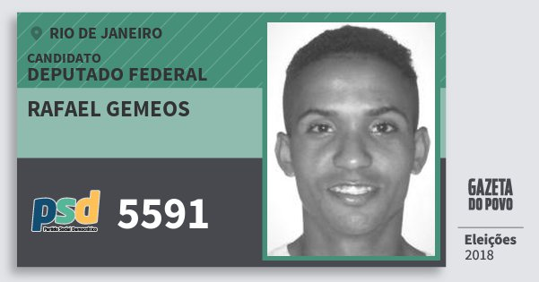 Santinho Rafael Gemeos 5591 (PSD) Deputado Federal | Rio de Janeiro | Eleições 2018