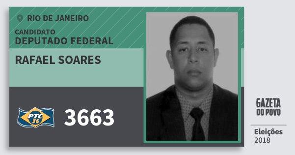Santinho Rafael Soares 3663 (PTC) Deputado Federal | Rio de Janeiro | Eleições 2018