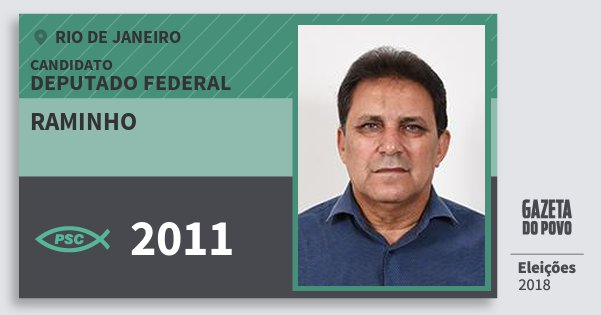 Santinho Raminho 2011 (PSC) Deputado Federal | Rio de Janeiro | Eleições 2018