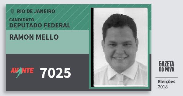 Santinho Ramon Mello 7025 (AVANTE) Deputado Federal | Rio de Janeiro | Eleições 2018