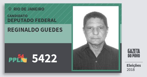 Santinho Reginaldo Guedes 5422 (PPL) Deputado Federal | Rio de Janeiro | Eleições 2018