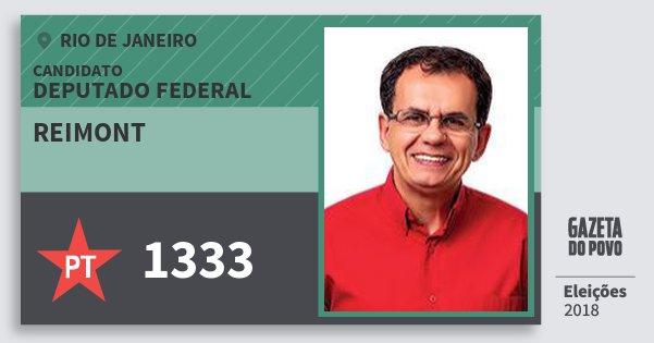 Santinho Reimont 1333 (PT) Deputado Federal | Rio de Janeiro | Eleições 2018