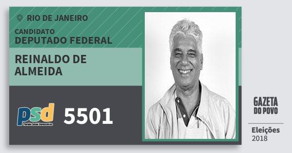 Santinho Reinaldo de Almeida 5501 (PSD) Deputado Federal | Rio de Janeiro | Eleições 2018