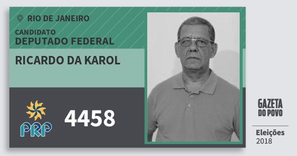 Santinho Ricardo da Karol 4458 (PRP) Deputado Federal | Rio de Janeiro | Eleições 2018