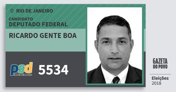 Santinho Ricardo Gente Boa 5534 (PSD) Deputado Federal | Rio de Janeiro | Eleições 2018