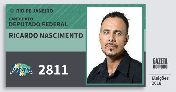 Santinho Ricardo Nascimento 2811 (PRTB) Deputado Federal | Rio de Janeiro | Eleições 2018