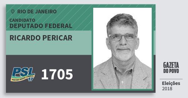 Santinho Ricardo Pericar 1705 (PSL) Deputado Federal | Rio de Janeiro | Eleições 2018
