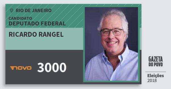 Santinho Ricardo Rangel 3000 (NOVO) Deputado Federal | Rio de Janeiro | Eleições 2018