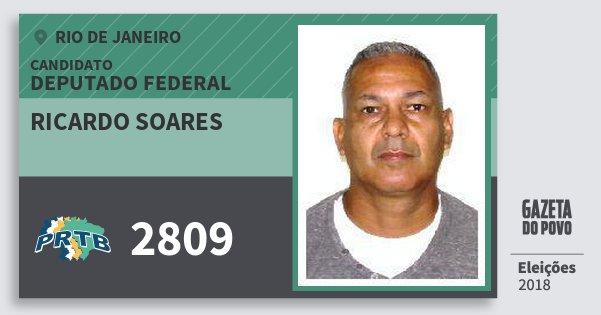 Santinho Ricardo Soares 2809 (PRTB) Deputado Federal | Rio de Janeiro | Eleições 2018