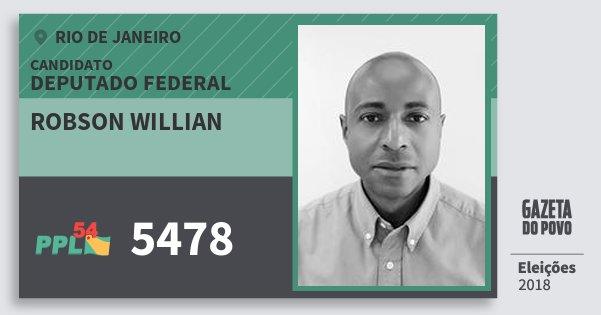 Santinho Robson Willian 5478 (PPL) Deputado Federal | Rio de Janeiro | Eleições 2018