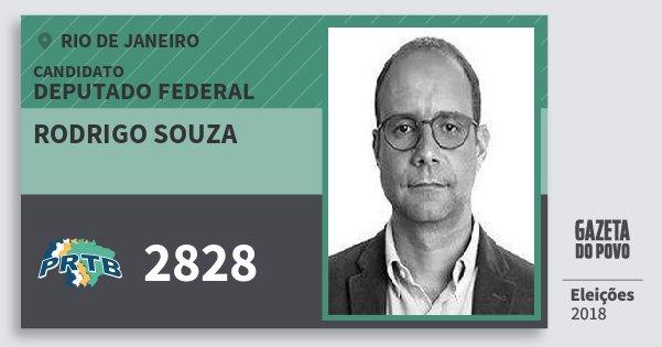 Santinho Rodrigo Souza 2828 (PRTB) Deputado Federal | Rio de Janeiro | Eleições 2018
