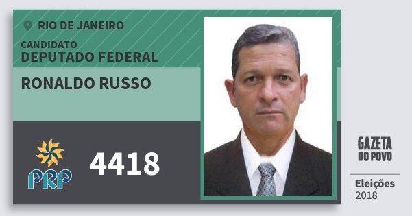 Santinho Ronaldo Russo 4418 (PRP) Deputado Federal | Rio de Janeiro | Eleições 2018