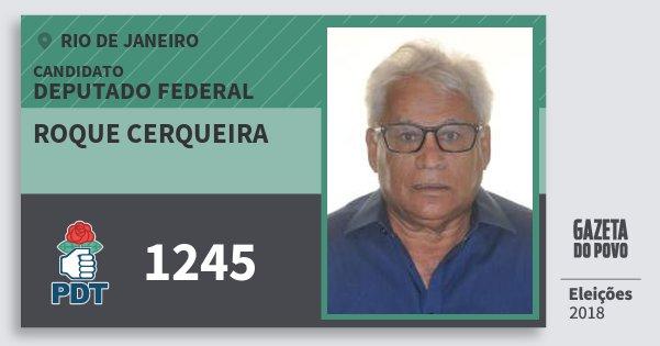 Santinho Roque Cerqueira 1245 (PDT) Deputado Federal | Rio de Janeiro | Eleições 2018