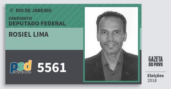 Santinho Rosiel Lima 5561 (PSD) Deputado Federal | Rio de Janeiro | Eleições 2018