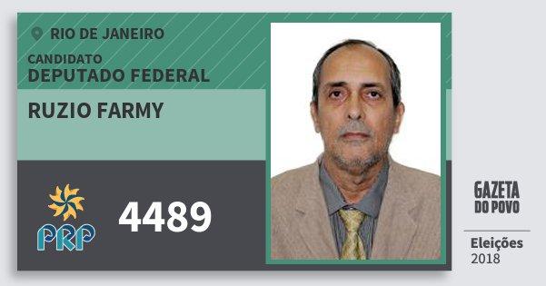 Santinho Ruzio Farmy 4489 (PRP) Deputado Federal | Rio de Janeiro | Eleições 2018