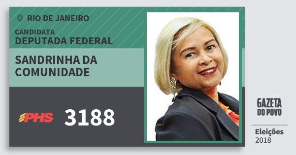 Santinho Sandrinha da Comunidade 3188 (PHS) Deputada Federal | Rio de Janeiro | Eleições 2018