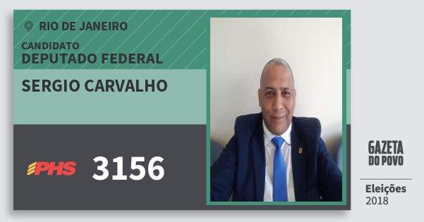 Santinho Sergio Carvalho 3156 (PHS) Deputado Federal | Rio de Janeiro | Eleições 2018